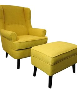 Jenson Armchair and Footstool Yellow
