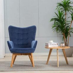 Kayla Skipper Blue Fabric Chair
