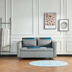 Aspen Teal Patchwork Sofa Bed