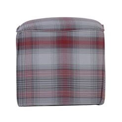 Cube Footstool Red Striped
