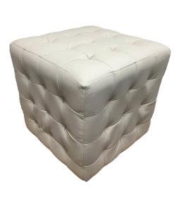 Leather Footstool Cream