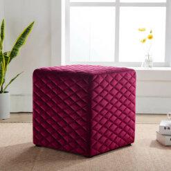 Quilted Crimson Cube