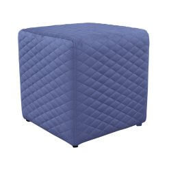 Quilted Footstool Purple