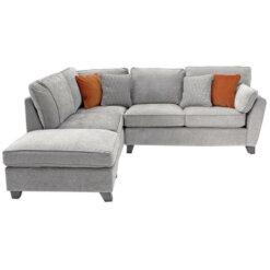 Cantrell lh Corner Sofa - Silver