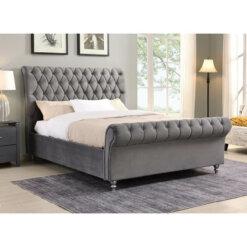Kilkenny Fabric Bed Frame - Grey