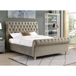 Kilkenny Fabric Bed Frame - Mink