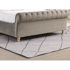Kilkenny Fabric Bed Frame - Mink Foot End