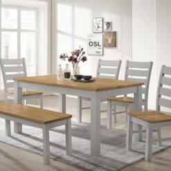 Chelsea Grey & Oak Dining Set