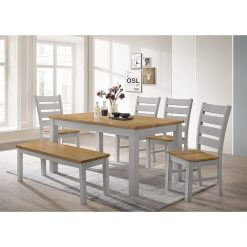Chelsea Grey & Oak Dining Set1