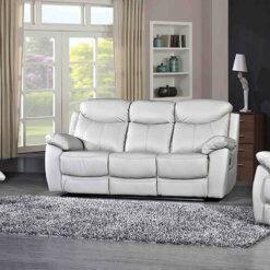 Bradshaw Light Grey Leather Sofa Collection