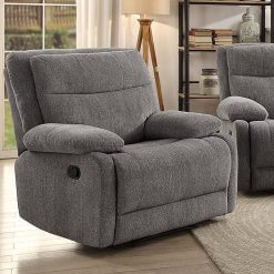 Jasper Grey 1 Seater Recliner Sofa