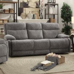 Jasper Grey 3 Seater Recliner Sofa