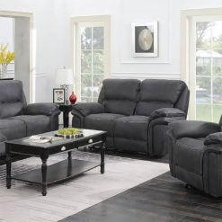 Preston Slate 2 Seater Recliner Sofa