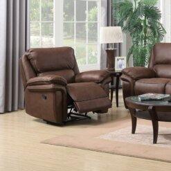 Preston Mocha 1 Seater Recliner Sofa