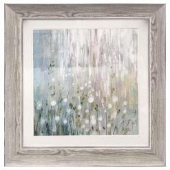 Abstract Daisies Framed Picture