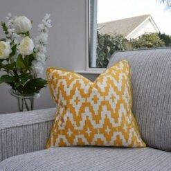 Aztec Mustard Cushion