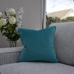 Two Tone Aqua/Grey Cushion