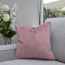 Two Tone Pink/Grey Cushion