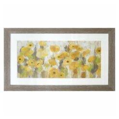 Floral Mustard Framed Picture