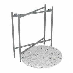 Terrazzo Grey Large Folding Table
