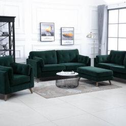 Zurich Green Sofa Suite
