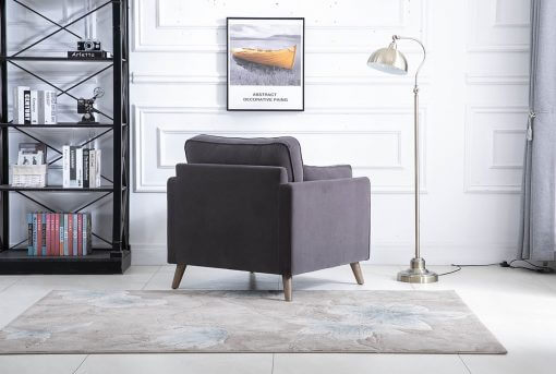 Zurich Grey 1 Seater