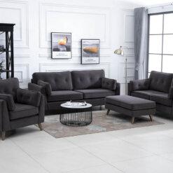 Zurich Grey Sofa Suite
