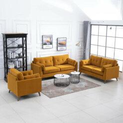Zurich Ochre Sofa Suite