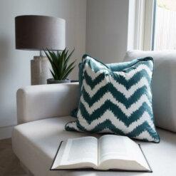 Chevron Green Cushion