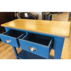 Navy & Oak Console Table