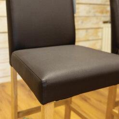 Leather Barstool Pair
