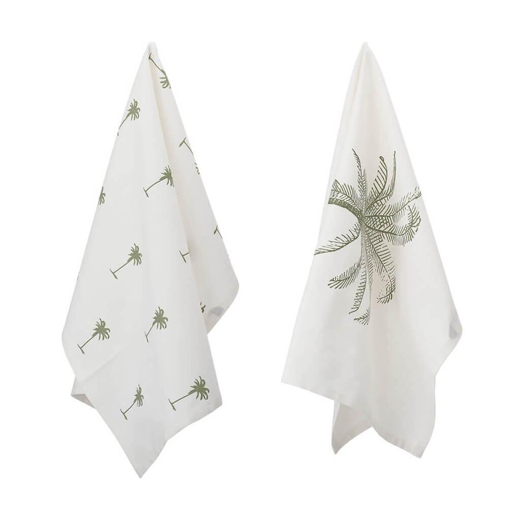 Palm Tree Tea Towel Set