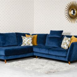 Helsinki Blue Corner Sofa