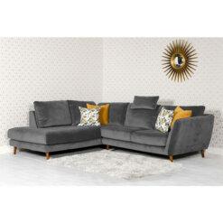 Helsinki Grey Corner Sofa