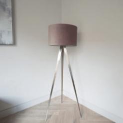 Tripod Floor Lamp Blush Shade