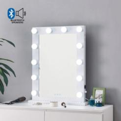 Hollywood Mirror White Bluetooth