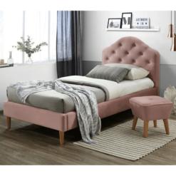 Chloe Bedframe Pink