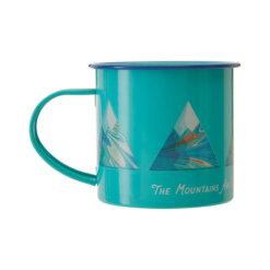 Mino Mountain Design Enamel Mug