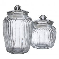 Small Clear Glass Candy Jar