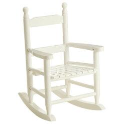 Kids White Rocking Chair