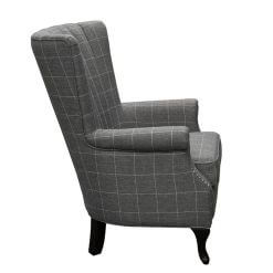 1510 Grey Stripe Armchair