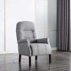 Barna Grey Fabric Armchair