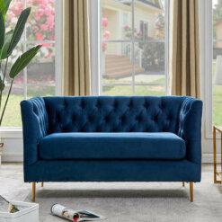 Belle Navy Sofa