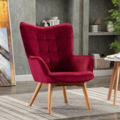 Kayla Crimson Fabric Chair
