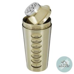 Recipe Brushed Brass Cocktail Shaker