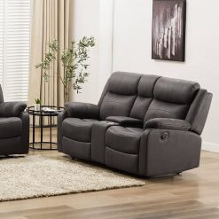 Bruno 2 Seater Sofa With Console