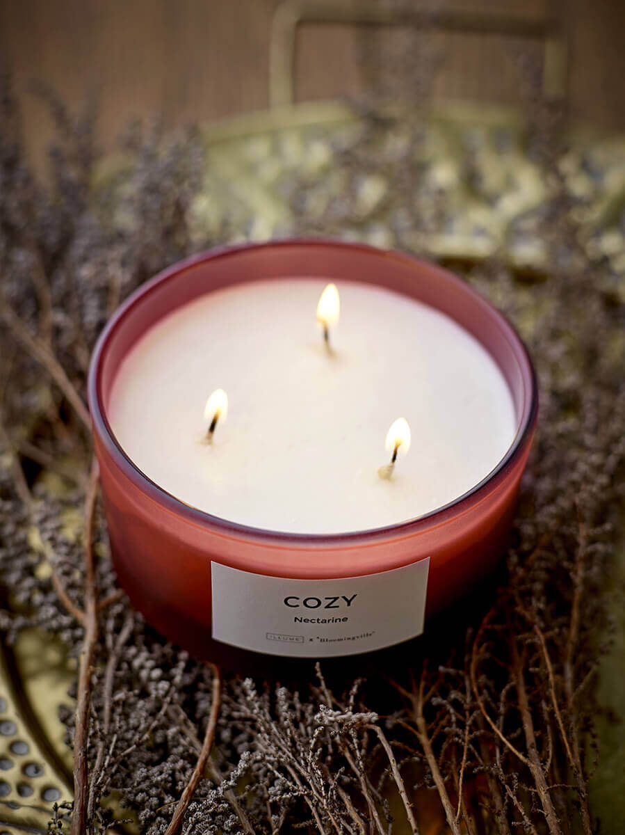Large Cozy Nectarine Scented Candle