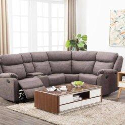 Erica Brown Corner Sofa