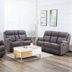Erica Fabric Recliner Sofa