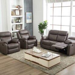 Erica Brown Recliner Sofa Suite